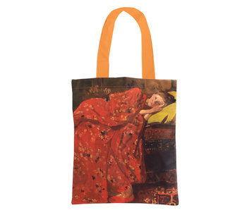 Cotton Tote Bag Luxe, Breitner, Girl in red kimono
