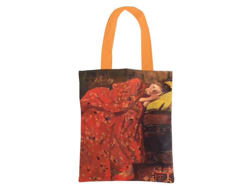 Bolsa de algodón Luxe, Breitner, Chica en kimono rojo