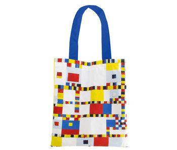 Cotton Tote Bag Luxe, Mondriaan Victory Boogie Woogie