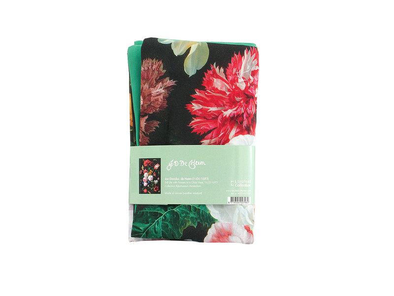 Housse de coussin, 45x45 cm, De Heem, nature morte aux fleurs
