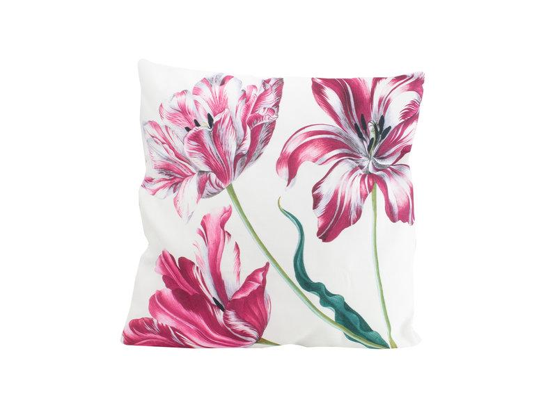 Funda de cojín, 45x45 cm, Merian, Tres tulipanes