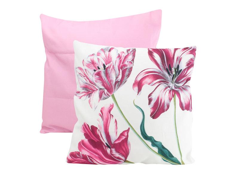 Cushion cover, 45x45 cm,  Merian, Three tulips