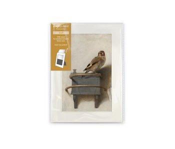 Passe-partout, S, 8 x 13 cm, Carel Fabritius, El jilguero