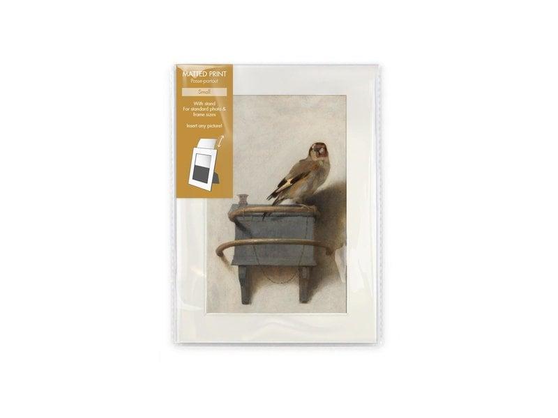 Matted prints, S, 18 x 12.8 cm, Goldfinch, Carel Fabritius