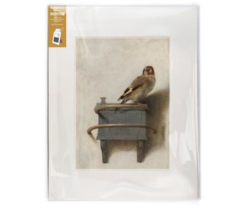 Matted print with reproduction, XL,  Goldfinch, Carel Fabritius