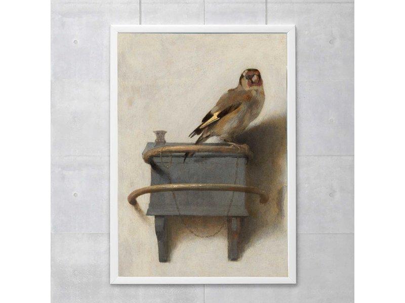 Poster 50x70 cm,  Carel Fabritius, Het Puttertje
