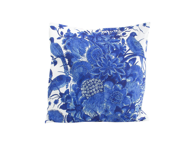 Cushion cover, 45x45 cm, Delft Blue birds, Rijksmuseum