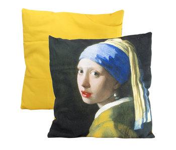 Funda de cojín, 45x45 cm, Vermeer, Niña de la perla