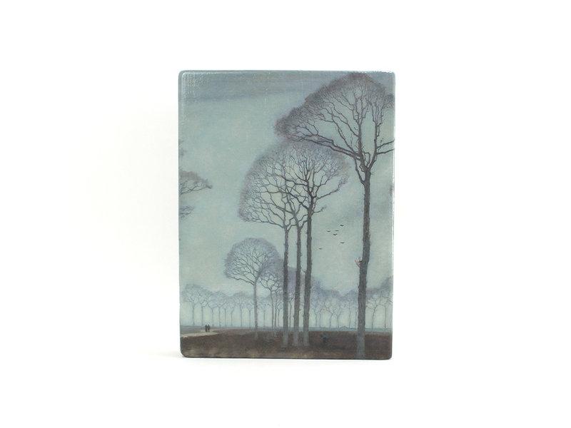 Masters-on-wood, Jan Mankes, Bomenrij, 300 x  195 mm