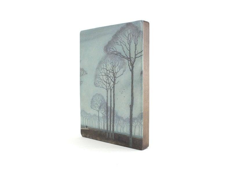Meister auf Holz,  Jan Mankes, Baumreihe,  300 x  195 mm