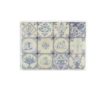 Ensemble de mini aimants, carreaux bleu de Delft
