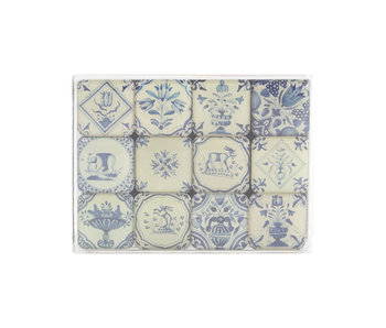 Mini Magnet Set, Delft Blue tiles