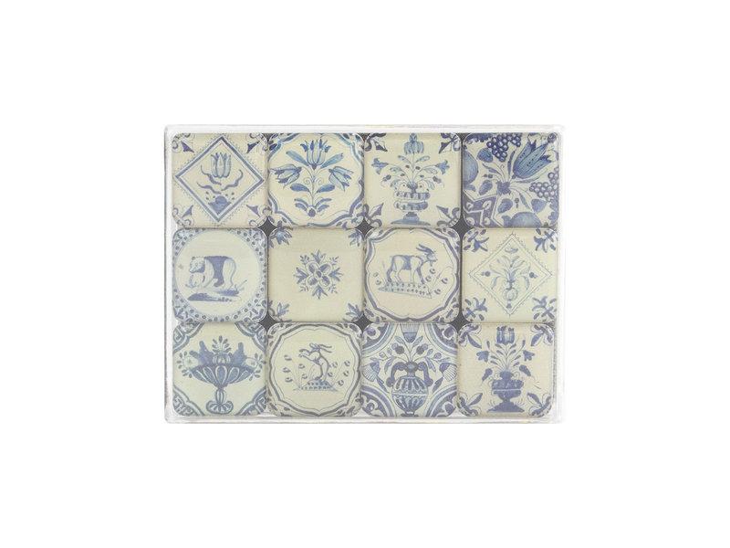 Mini Magneten Set, Delfts Blauwe tegels