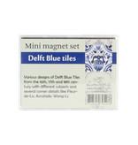 Juego de mini imanes, azulejos azules de Delft