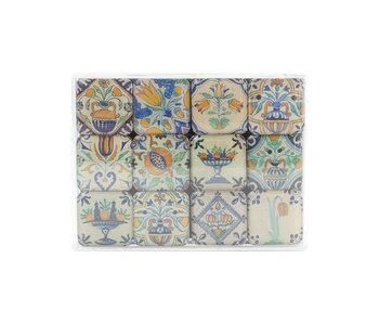 Ensemble de mini aimants, carreaux polychromes Delft