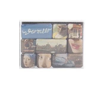 Set de mini imanes, Johannes Vermeer