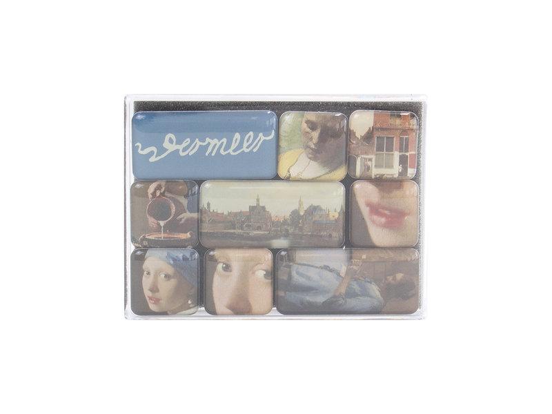Ensemble de mini aimants, Johannes Vermeer
