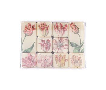 Ensemble de mini aimants, tulipes, Marrel