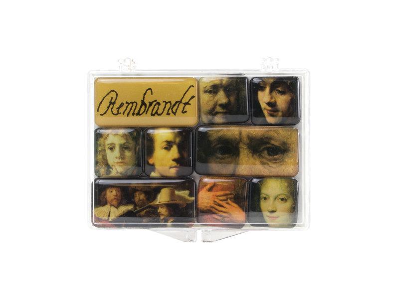 Set de mini aimants pour frigo, Rembrandt