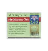 Mini Magnet Set, Art Nouveau tiles
