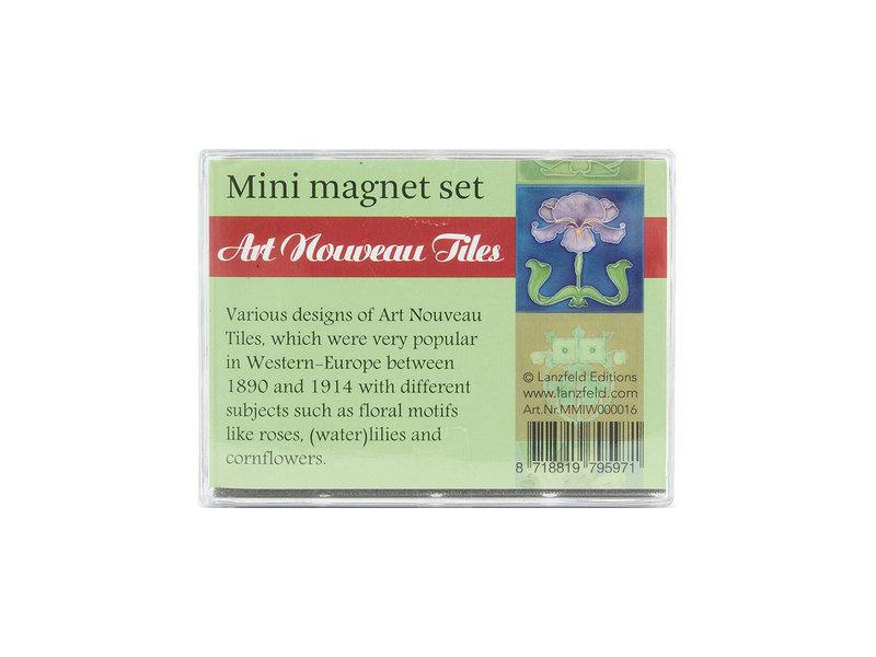 Set de mini imanes, Art Nouveau