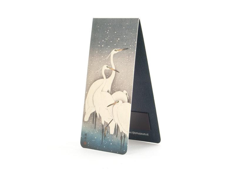 Magnetic Bookmark, Egrets in the Snow, Koson, Rijksmusem