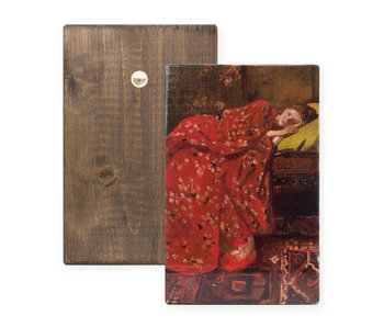 Masters-on-wood, Breitner, Meisje in rode kimono