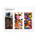 3er-Set, magnetisches Lesezeichen,  Süßigkeiten