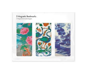 Set van 3, Magnetische boekenleggers, Chinees porselein