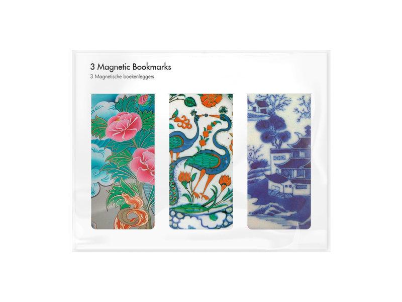 3er-Set, magnetisches Lesezeichen,  Chinesisches Porzellan