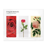 Juego de 3, marcapaginas magnético, Rosas