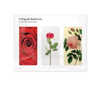 Lot de 3, signets magnétiques, Des roses