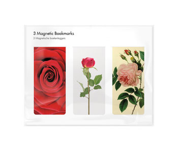 Set of 3, Magnetic bookmark,  Roses