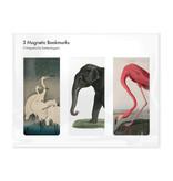 3er-Set, magnetisches Lesezeichen,  Tierdrucke