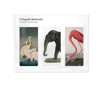 Set van 3, Magnetische boekenleggers , Dieren tekeningen