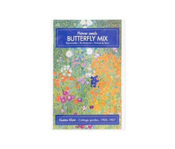 Carte postale avec graines, Klimt, le jardin de la ferme