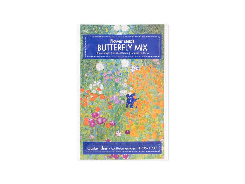 Postkaart met zaadjes, Klimt, De boerentuin