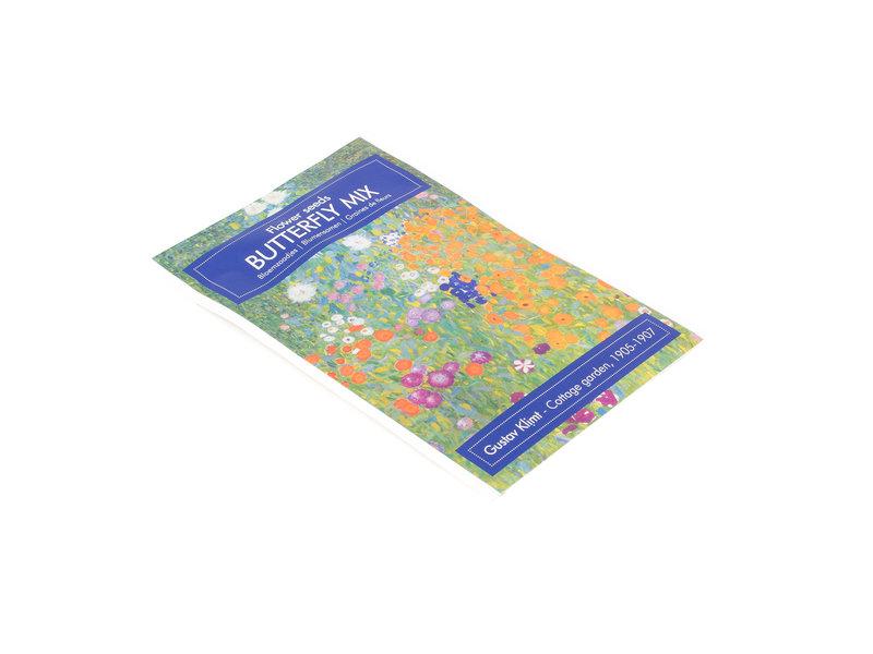 Postal con semillas, Klimt, el jardín de la granja