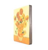 Meister auf Holz, Sonnenblumen, Vincent van Gogh,  300 x  195 mm