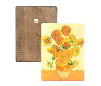 Masters-on-wood, Zonnebloemen, Vincent van Gogh
