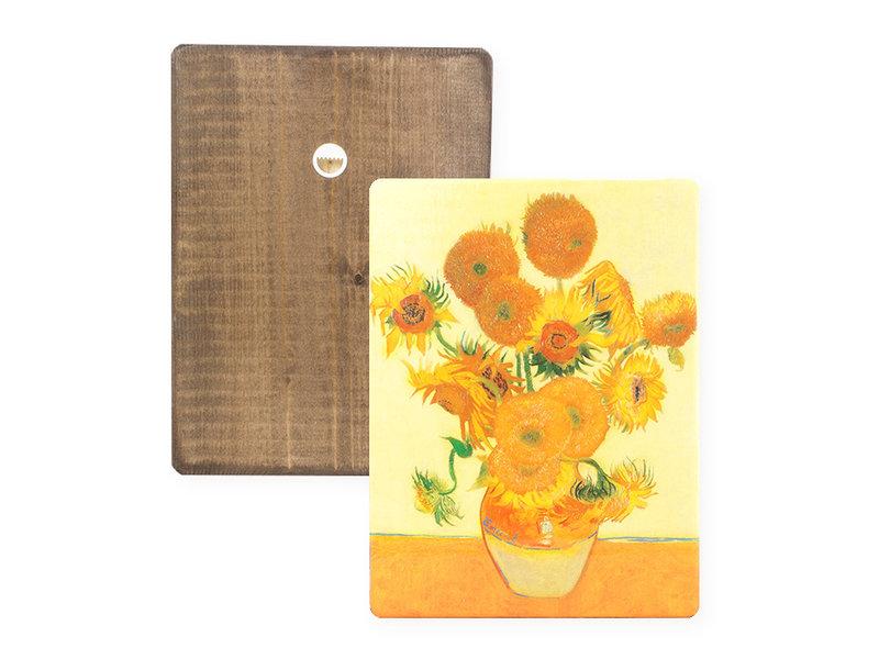 Maîtres-sur-bois, Tournesols, Vincent van Gogh,  300 x  195 mm
