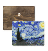 Masters-on-wood, Starry night, Vincent van Gogh ,  300 x  195 mm