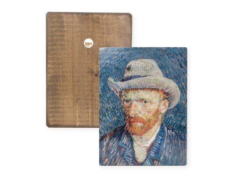 Meister auf Holz, Selbstporträt, Vincent van Gogh,  300 x  195 mm