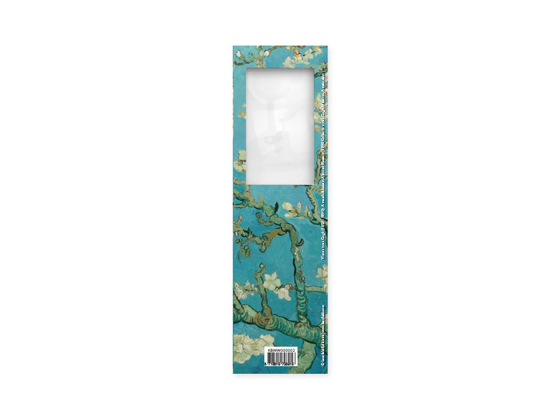 Marcador con lupa,Flor de almendro, Van Gogh