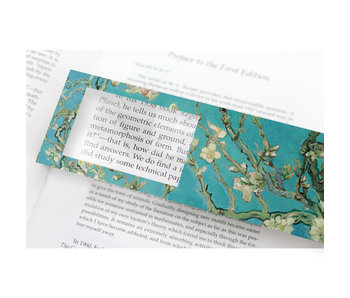 Lesezeichen mit Lupe, Mandelblüte, Vincent van Gogh