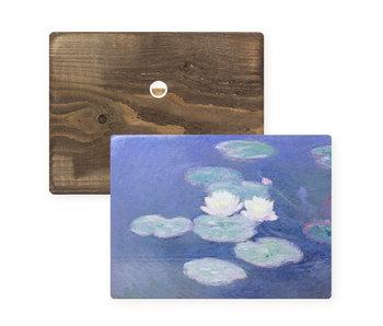 Meister auf Holz,  Monet, Seerosen im Abendlicht