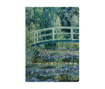 Documentenmap met elastische band, Monet, Japanse brug