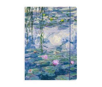 Carpeta portadocumentos con banda elástica, Monet, Nenúfares a la luz del atardecer