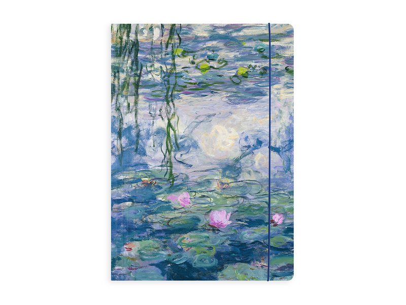 Portfolio with elas.tic closure A4 , Monet, Water Lilies