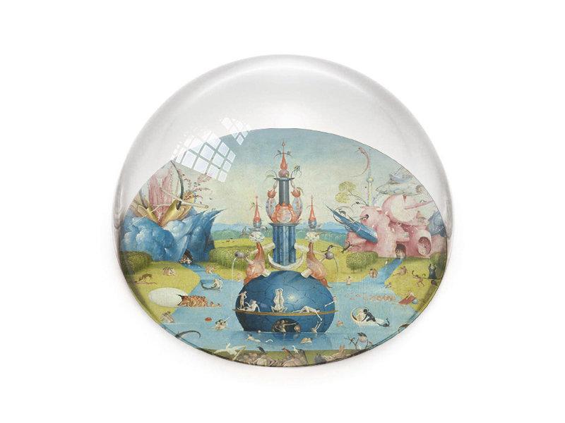 Glazen bolle  presse papier, Jheronimus Bosch, Tuin der Lusten